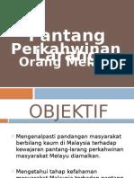 Pantang Larang Perkahwinan Org. Melayu