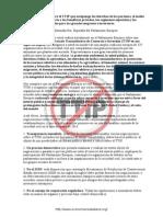 Carta enviada a los Europarlamentarios por 375 ONGs