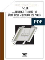 Voluntary Product Standard Ps2-04 Performance Standard for Wood-based Structural-use Panels