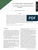 Analise Auditiva e Acustica Na Disartria