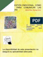 TALLER DE GESTIÓN EMOCIONAL, CÓMO PREPARARSE PARA COMUNICAR LAS MALAS NOTICIAS