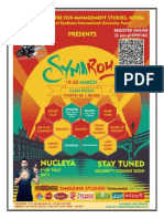 SYMAROH 2015 RULES, TIMINGS AND PRIZES ON OFFER FOR THE EVENTS