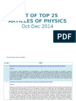 Top 25 Articles of Physics