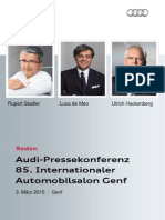 Reden 85. Internationaler Automobilsalon Genf, 3. März 2015