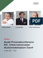 Reden 85. Internationaler Automobilsalon Genf, 3. März 2015