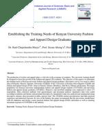 Training Need, Kenya