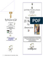 2015-25 Mar - Annunciation - Hymns Only