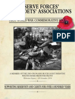 Reserve Forces' and Cadets' Association - First World War Commemorative Issue