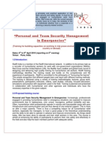 Course Detail of Personal and Team Security Management Training