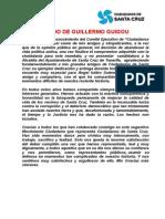 Importante Comunicado de Guillermo Guigou