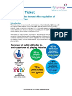 Just the Ticket - Public Attitudes Towards the Regulation of Charity Lotteries