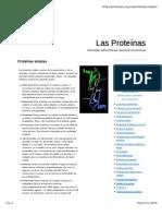 Tipos de Proteínas por solubilidad