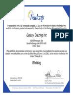 Nadcap Certification - Welding