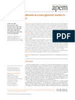 Serum Glycated Albumin as a New Glycemic Marker In