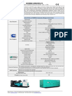 Tech Specs of 50kva Cummins Biogas Generator-141103