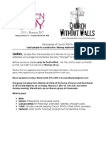2015 Women of Joy Letter and Schedule