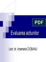 Evaluarea Actiunilor