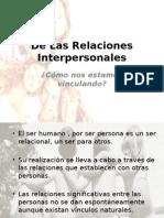 De Las Relaciones Interpersonales