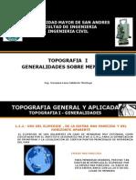 Tema 1- 2, Generalidades de Mensuras Topo I