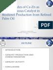 Mixed Oxides of Calcium and Zinc as Heterogeneous ICC 2014 JFS v300514