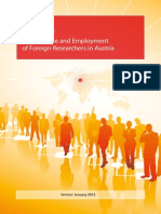 Leitfaden Forscher EGuide to Residence and Employment of Foreign Researchers in Austriangl
