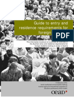 Guide to entry and residence requirements for foreign students in Austria