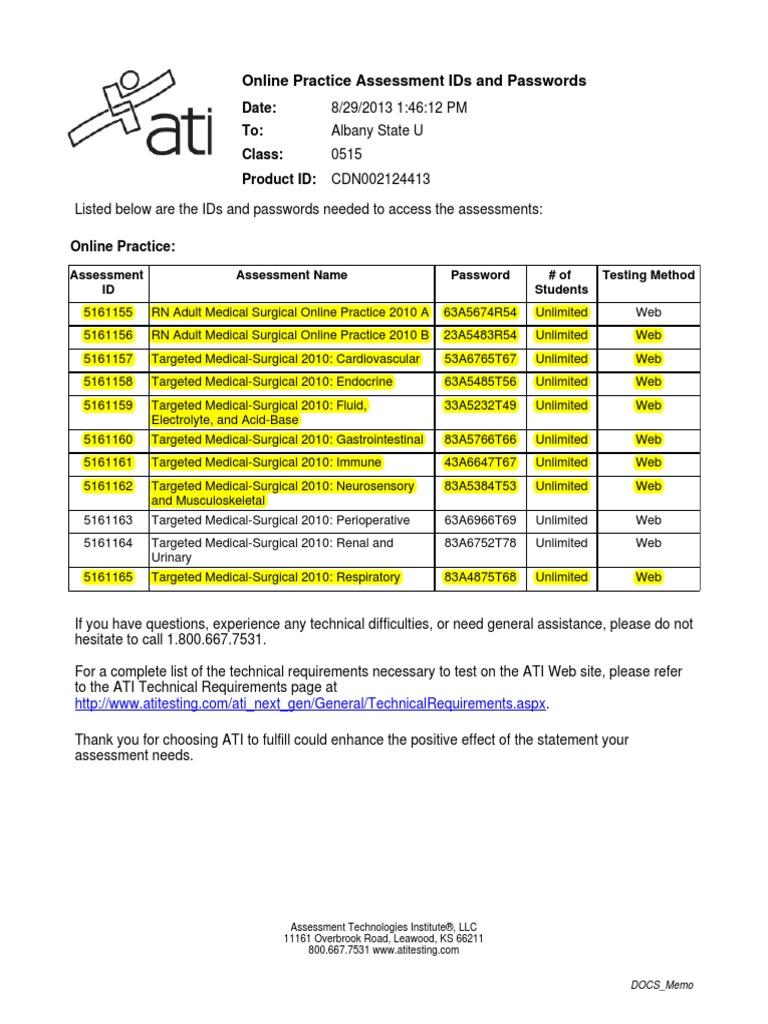 Ati practice codes fandeluxe Images