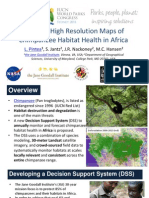 The First High Resolution Maps of Chimpanzee Habitat Health in Africa