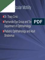 Ocular Motility