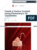 Festive Cocktail Photoshops 3d