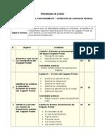 Estructura, Funcionamiento y Operación Del Cargador Frontal