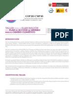 Programa Taller Elaboración CcGAP Sectores & Cooperación Internacional 26Feb15