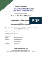 Conception et étude de la structure en béton armé d'un immeuble à Sousse (SS+2RDC+8étages)