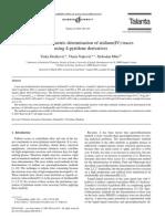 Spectrofluorimetric Determination of Iridium(IV) Traces