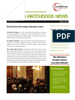Georgia Watchdogs Newsletter March 3 2015 PDF
