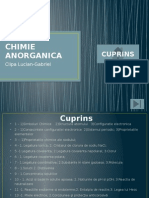 CHIMIE ANORGANICA