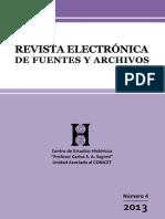 Revista electrónica de fuentes y archivos