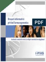 Romanian I-PWG Pharmacogenomics Informational Brochure