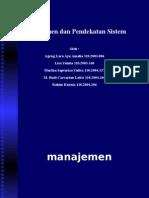 Manajemen Dan Pendekatan Sistem