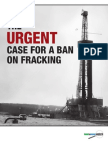 The Urgent Case for Ban on Fracking