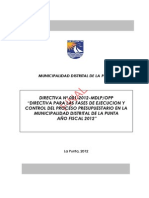 Directiva de Ejecucion 2012