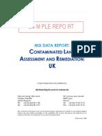 MSI data report