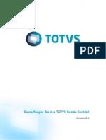 Especificação Tecnica - Totvs Gestão Contábil