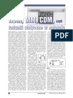 Elektronika. HBM, MM, COM