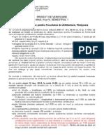 Proiect de Verificare an III IV Sem 1- 2014