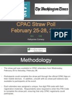 CPAC Straw Poll - Results and Analysis - FINAL