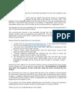 re-enrolement information letter