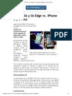 Galaxy S6 y S6 Edge vs iPhone 6