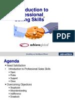 Advantech - PSS - Intro to Sales Skills