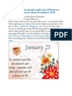 Shri Shirdi Sai Speaks for 25th Jan